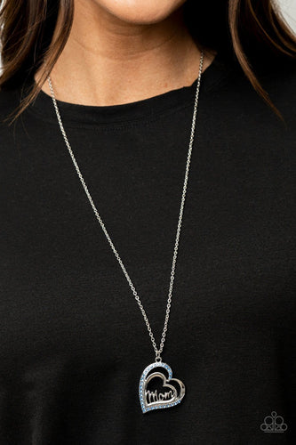 Paparazzi Accessories: A Mothers Heart - Blue Mother's Day Necklace