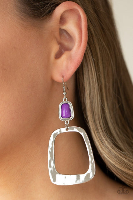 Paparazzi Accessories: Material Girl Mod - Purple Earrings