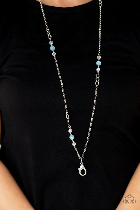 Paparazzi Accessories:  Teasingly Trendy - Blue Iridescent Lanyard