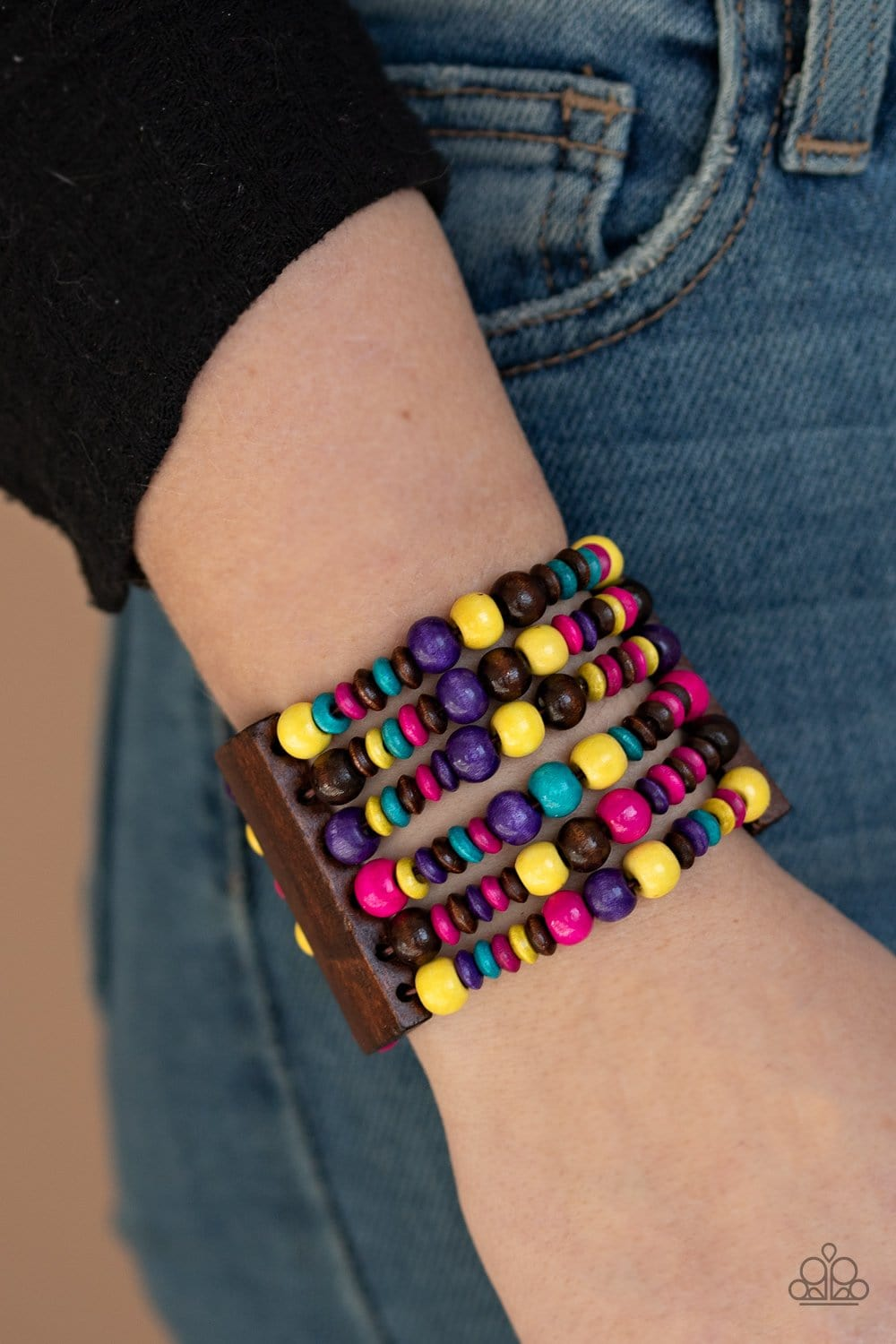 Paparazzi: Dont Stop BELIZE-ing - Multi Wooden Bracelet - Jewels N' Thingz Boutique