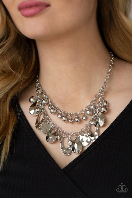 Paparazzi Accessories: Extra Exhilarating - Silver Necklace
