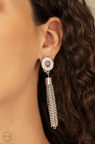 Paparazzi: Perfectly Prestigious - White Clip-On Earrings