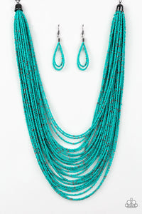 Paparazzi: Rio Rainforest - Blue Seed Bead Necklace