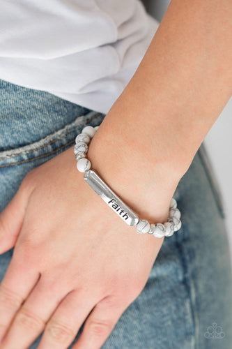 Fearless Faith - White: Paparazzi Accessories - Jewels N' Thingz Boutique