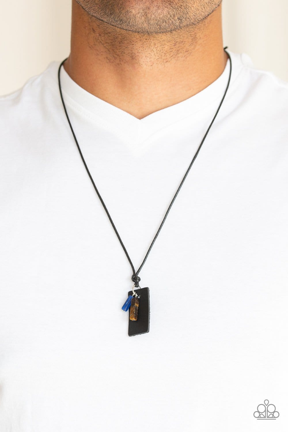 Paparazzi: Mountain Scout - Black Leather Necklace