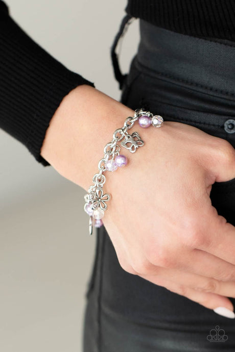 Paparazzi Accessories: Retreat into Romance - Purple Iridescent Bracelet