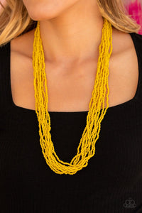 Paparazzi: Congo Colada - Yellow Seed Beads Necklace - Jewels N' Thingz Boutique