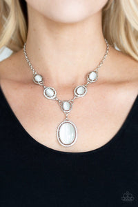 Metro Medallion - White: Paparazzi Accessories - Jewels N' Thingz Boutique