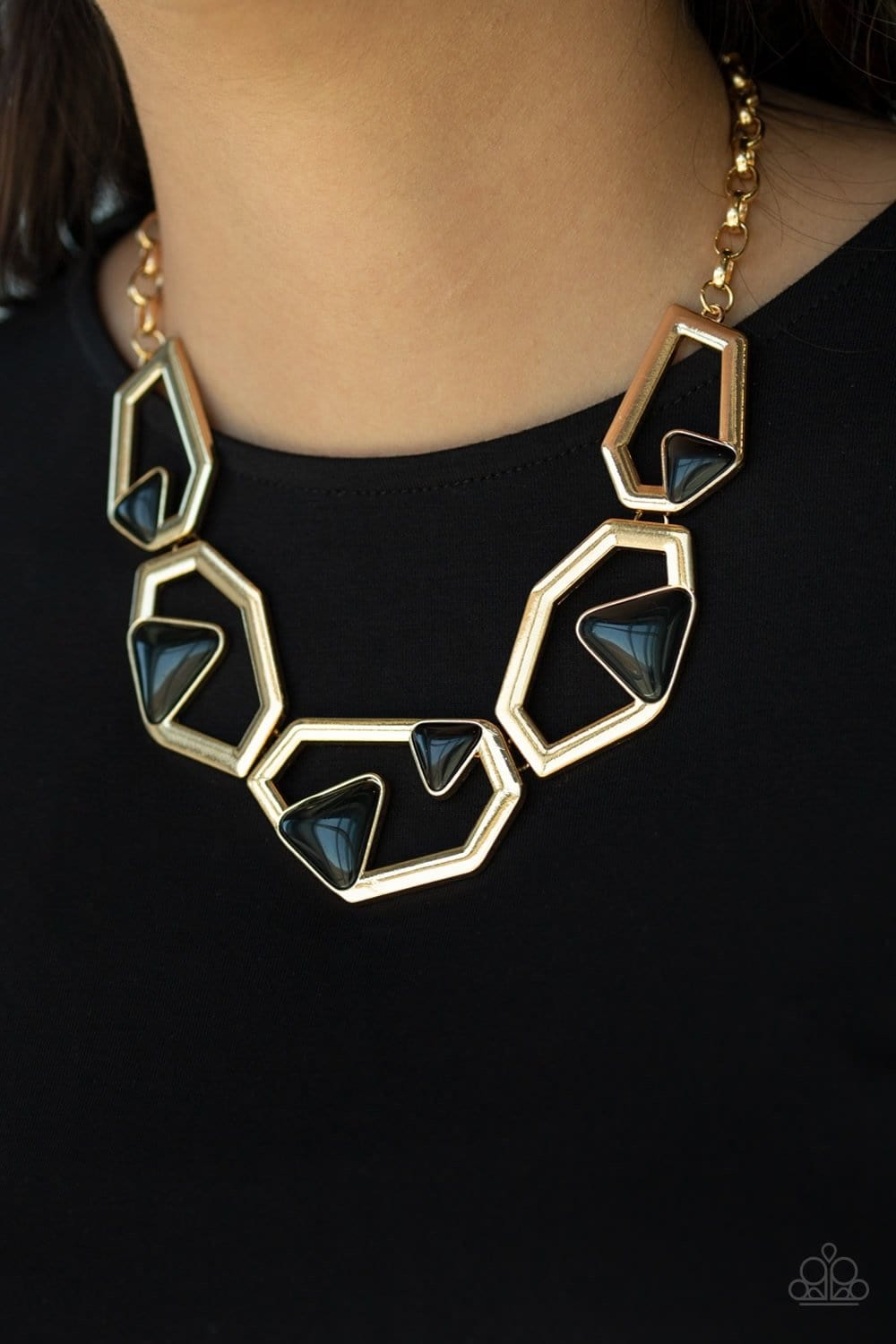 GEO-ing, GEO-ing, Gone - Gold: Paparazzi Accessories - Jewels N' Thingz Boutique