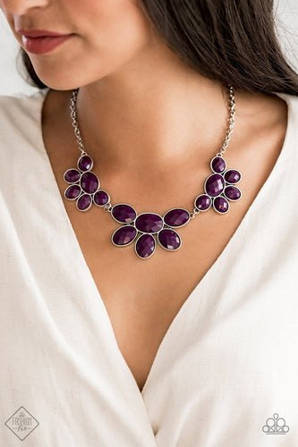 Flair Affair: Purple Fashion Fix Necklace- Paparazzi