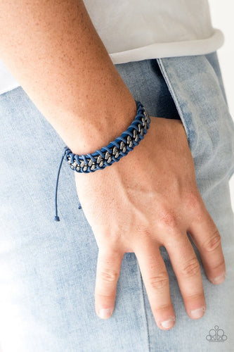 Racer Edge - Blue: Paparazzi Accessories - Jewels N' Thingz Boutique