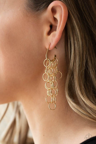 Paparazzi Accessories: Long Live The Rebels - Gold Earrings