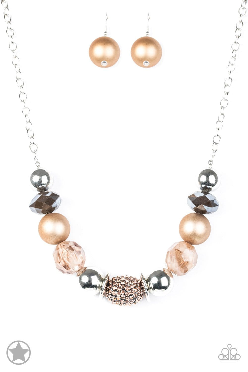 Paparazzi BLOCKBUSTERS: A Warm Welcome - Brown/Copper Necklace - Jewels N' Thingz Boutique