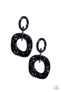 Paparazzi: Confetti Congo - Blue Acrylic Earrings - Jewels N' Thingz Boutique