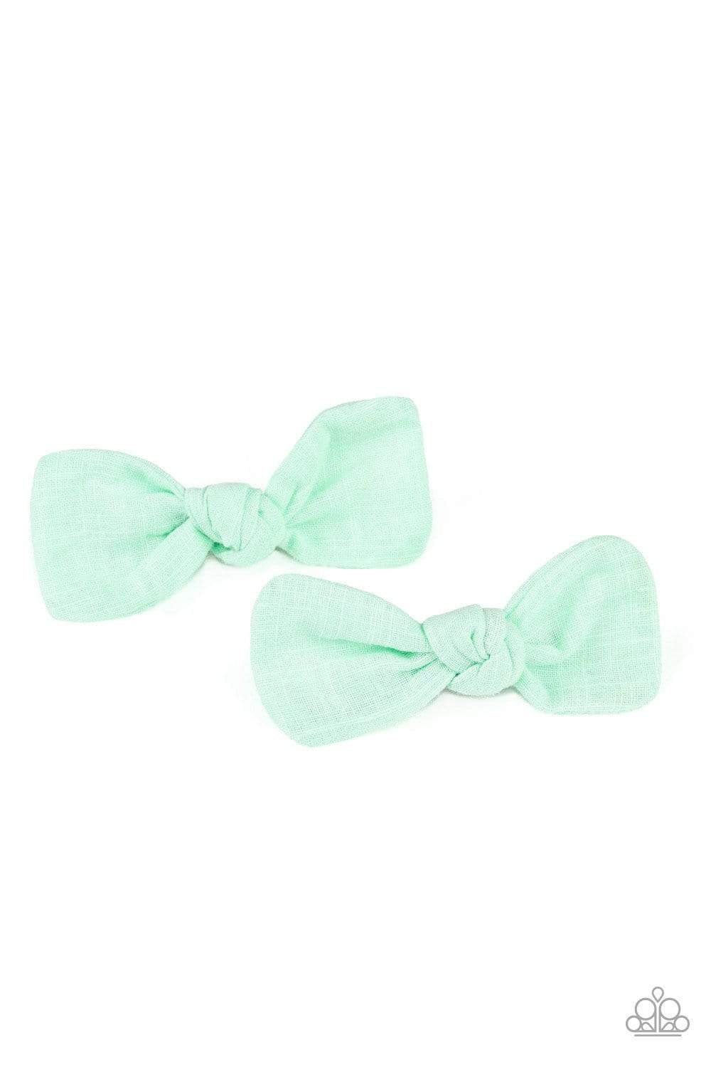 Paparazzi: Little BOW Peep - Green Hair Clips