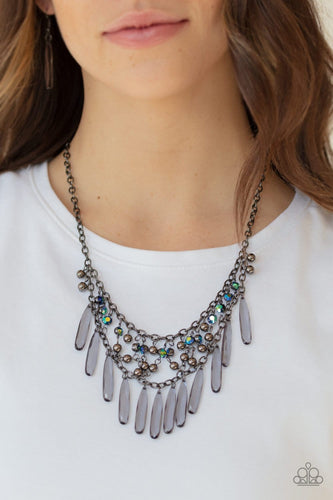 Paparazzi: Uptown Urban - Multi Iridescent Necklace