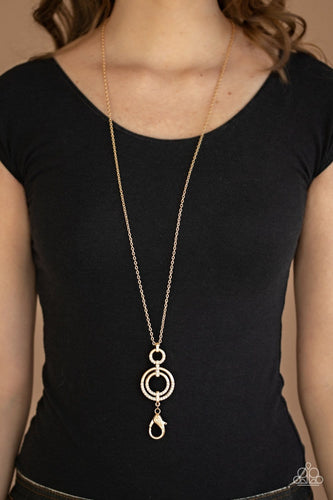Paparazzi: Bubbly Bauble - Gold Lanyard Necklace