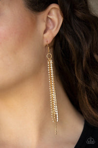 Center Stage Status - Gold Earrings: Paparazzi - Jewels N' Thingz Boutique