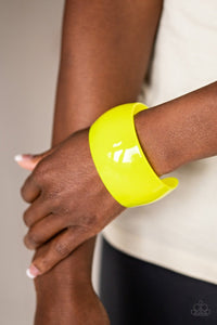 Paparazzi: Fluent in Flamboyance - Neon Yellow Bracelet - Jewels N' Thingz Boutique