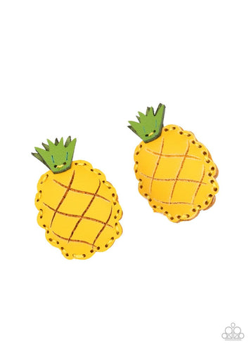 Paparazzi: PINEAPPLE Of My Eye - Yellow Hair Clips