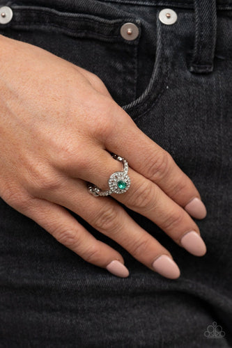 Paparazzi: I Said Yes - Green Rhinestone Ring - Jewels N' Thingz Boutique