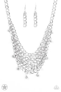 Paparazzi BLOCKBUSTERS: Fishing for Compliments - Silver Necklace