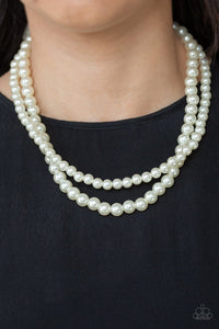 Paparazzi: Woman Of The Century - White Pearl Necklace - Jewels N' Thingz Boutique