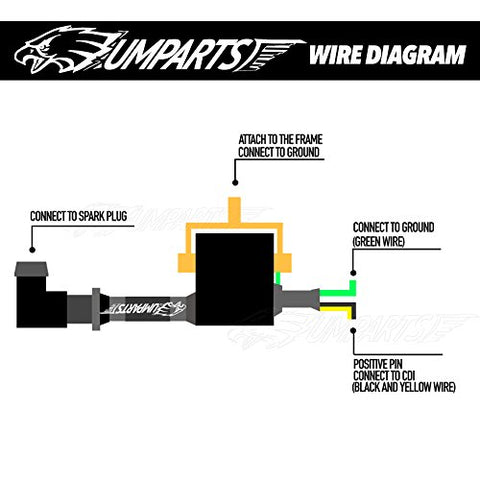 atv spark plug wiring diagram ic2  umparts 2 wire pin black ignition coil spark plug parts for  wire pin black ignition coil spark plug