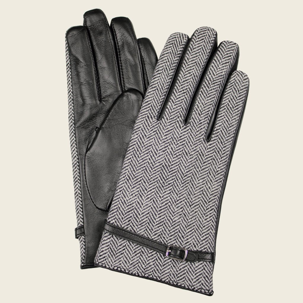 Dents 77-0007 Black/Tweed Gloves