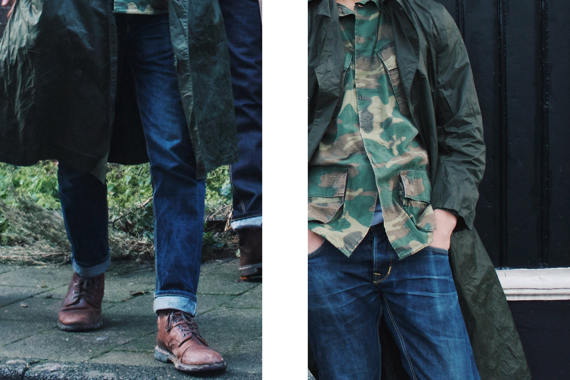 Vintage Army Night Camo jacket