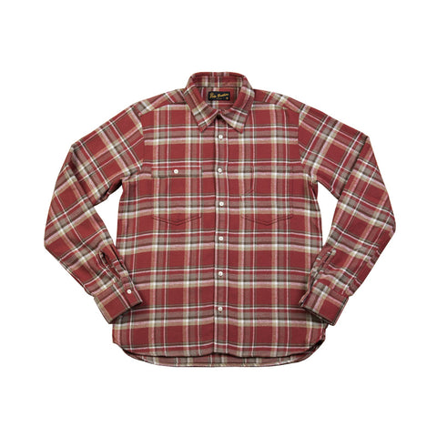 1937 Roamer Shirt Olive Red Flannel