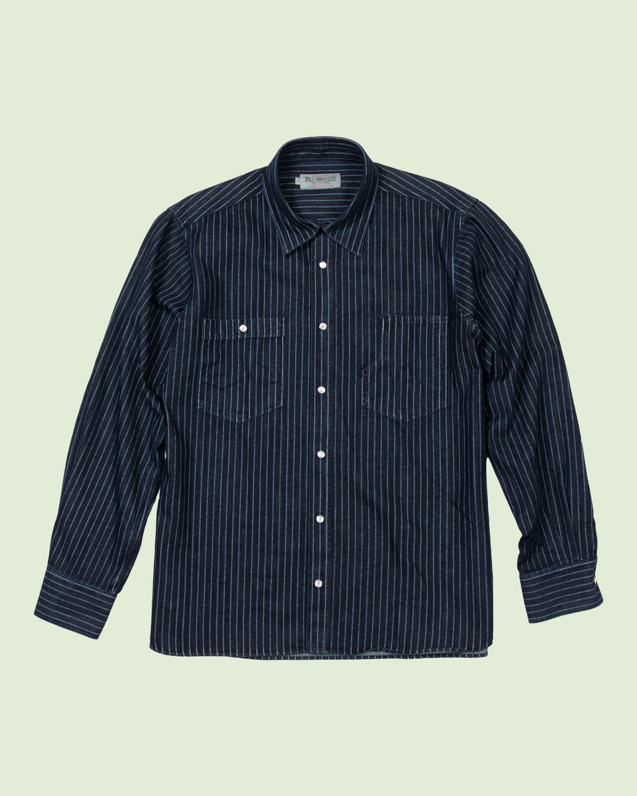 1937 Roamer Shirt Blue Wabash Denim