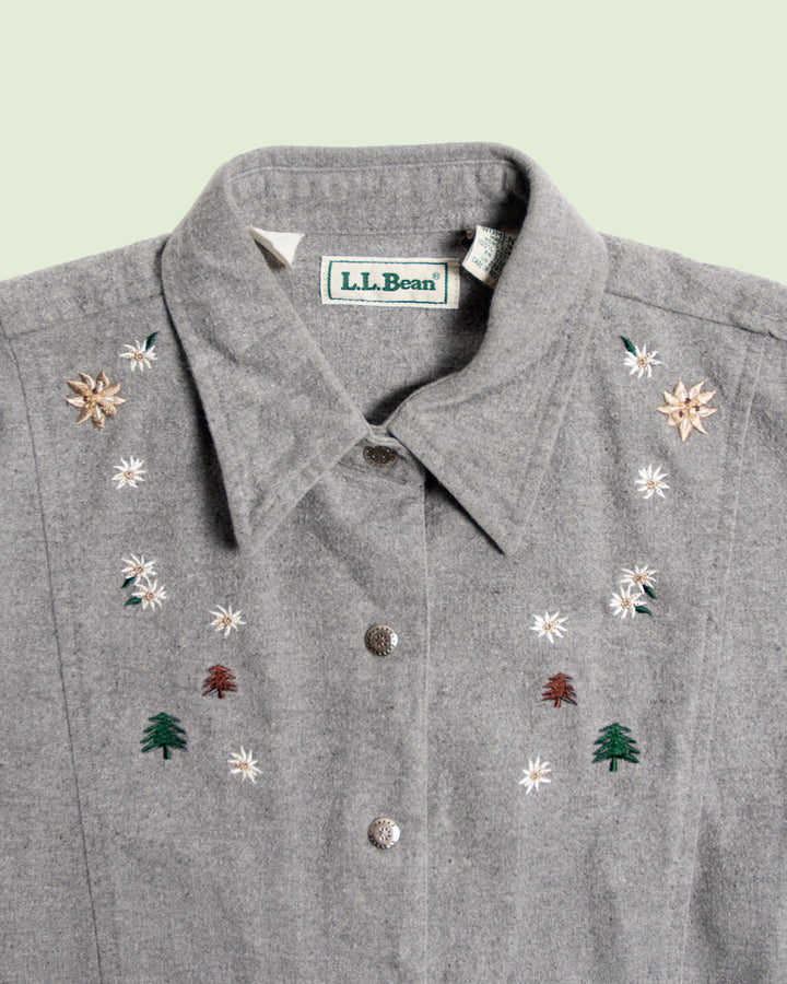 L.L. Bean Embroidered Women's Shirt (L)
