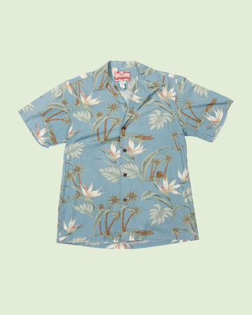 Hawaii Shirt RJC light blue palm tree (S)