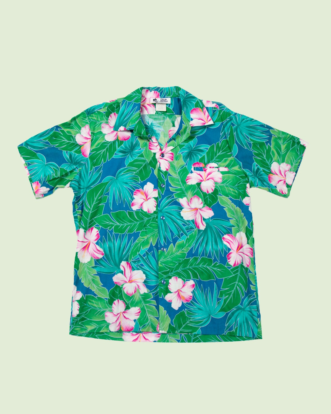 Hawaii Shirt Hilo Hatti blue green pink (XL)