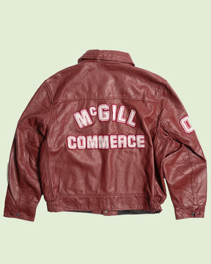 Leather Varsity Jacket McGill Commerce (L)