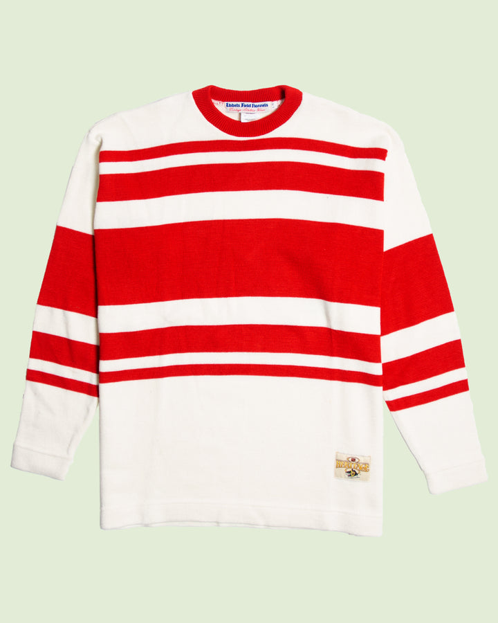 Wool Hockey Jersey Red White (L)