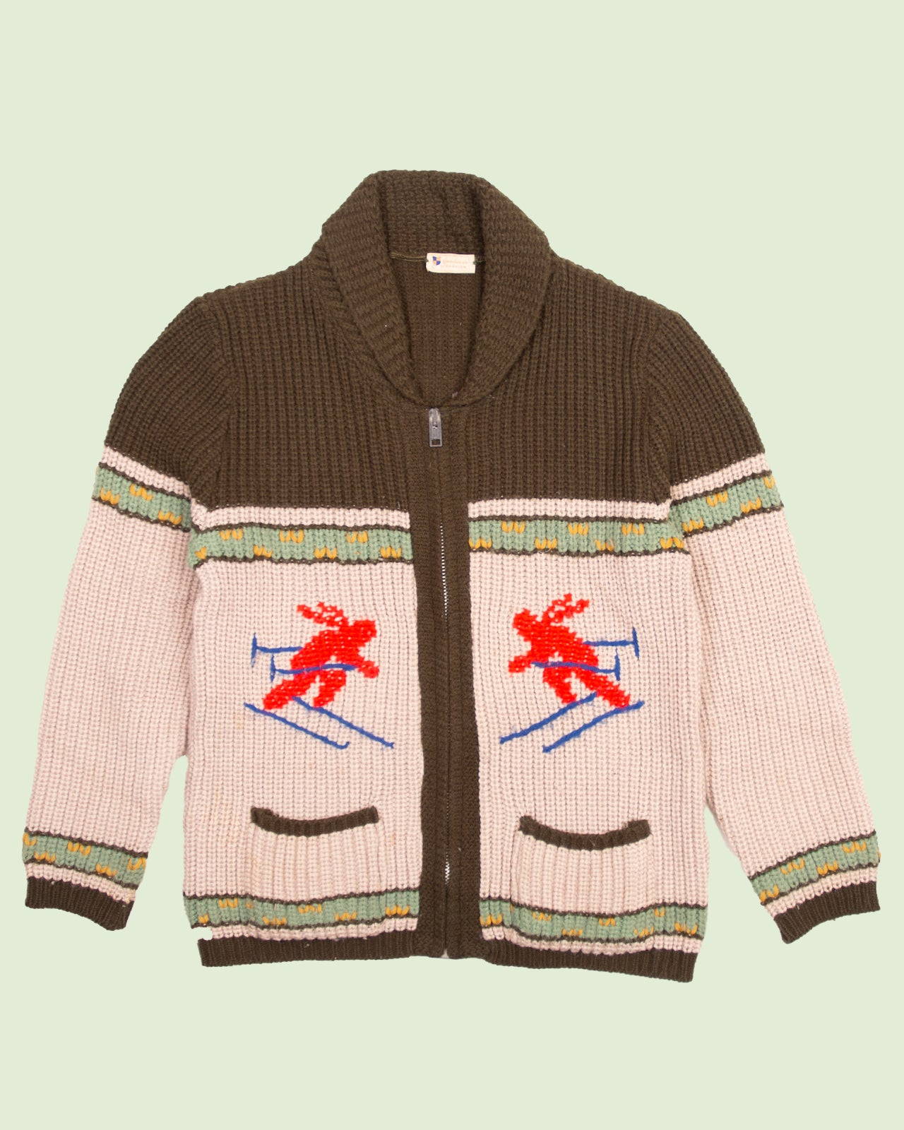 Knitted Cardigan Skiing (L)
