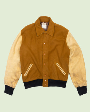 Sand Knit Varsity Jacket (XL)