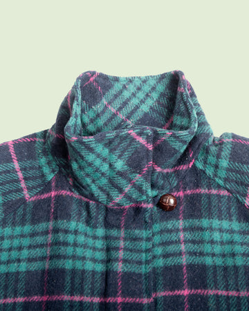Woolrich Womens Coat Pink Checkered (L)