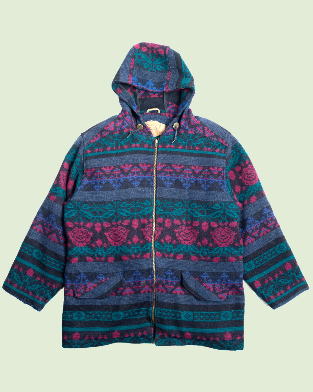 Woolrich Womens Coat Turquoise Patterned (L)