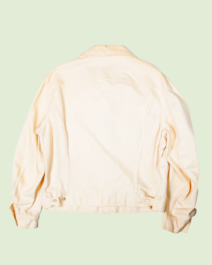 Lee Made in USA Off White Denim Jacket (L)