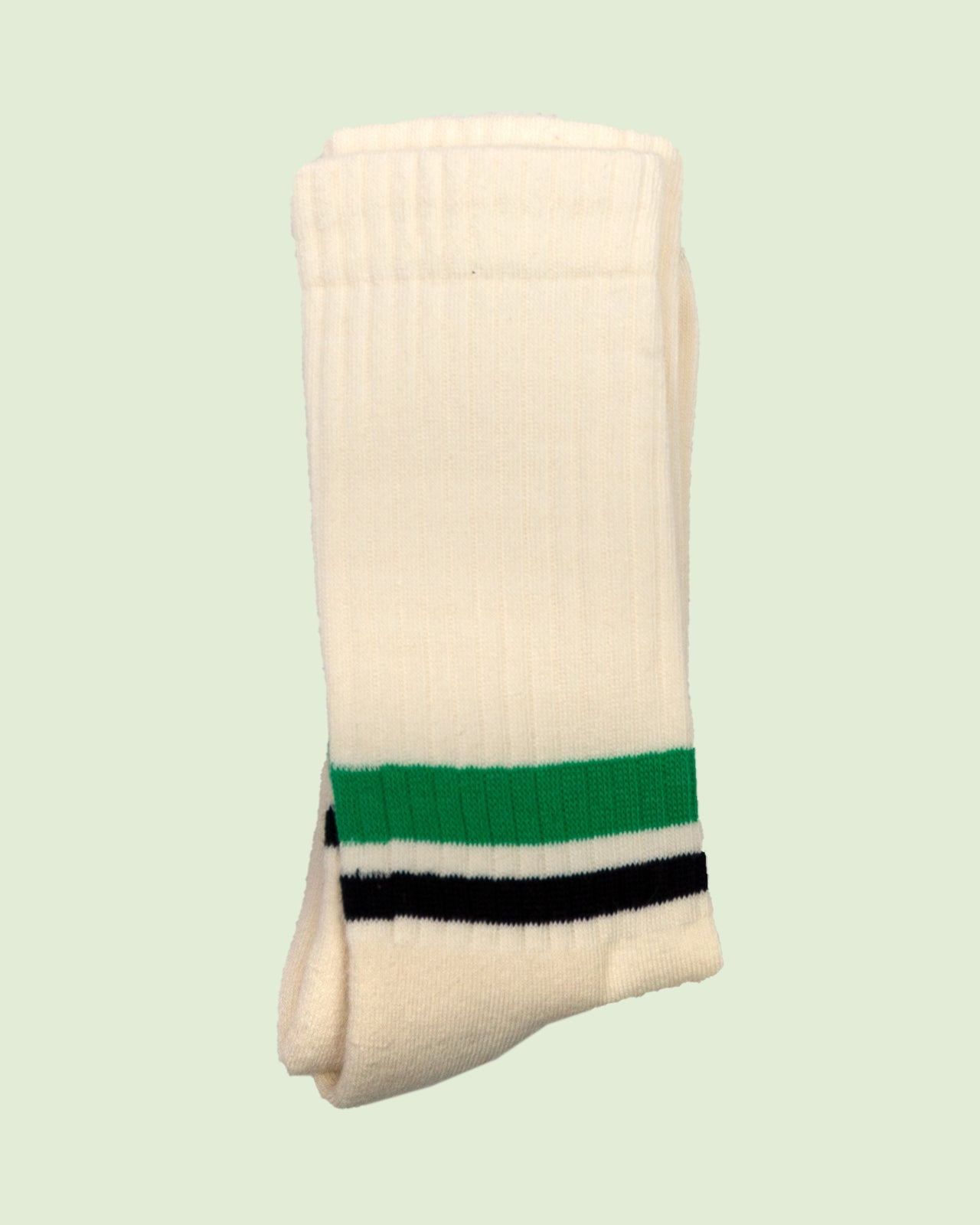 Heritage 9.1 Amarcord Black and Green Stripes Socks