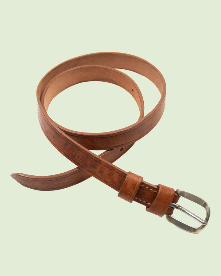 Vintage restored belt small tan No. 1