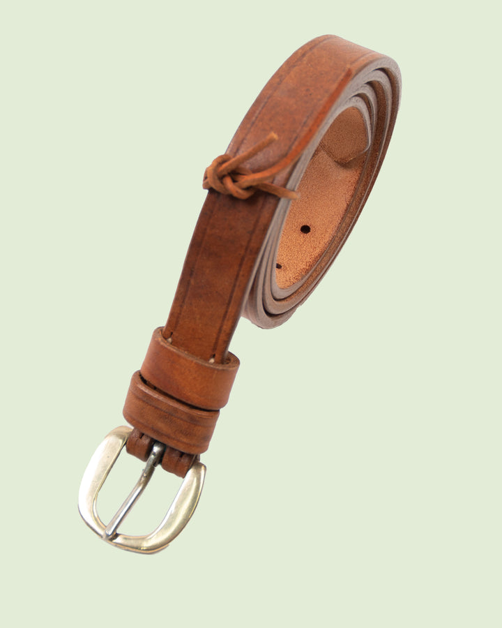 Vintage restored belt small tan No. 2