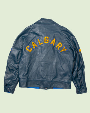 Vintage Leather Jacket Calgary (L)