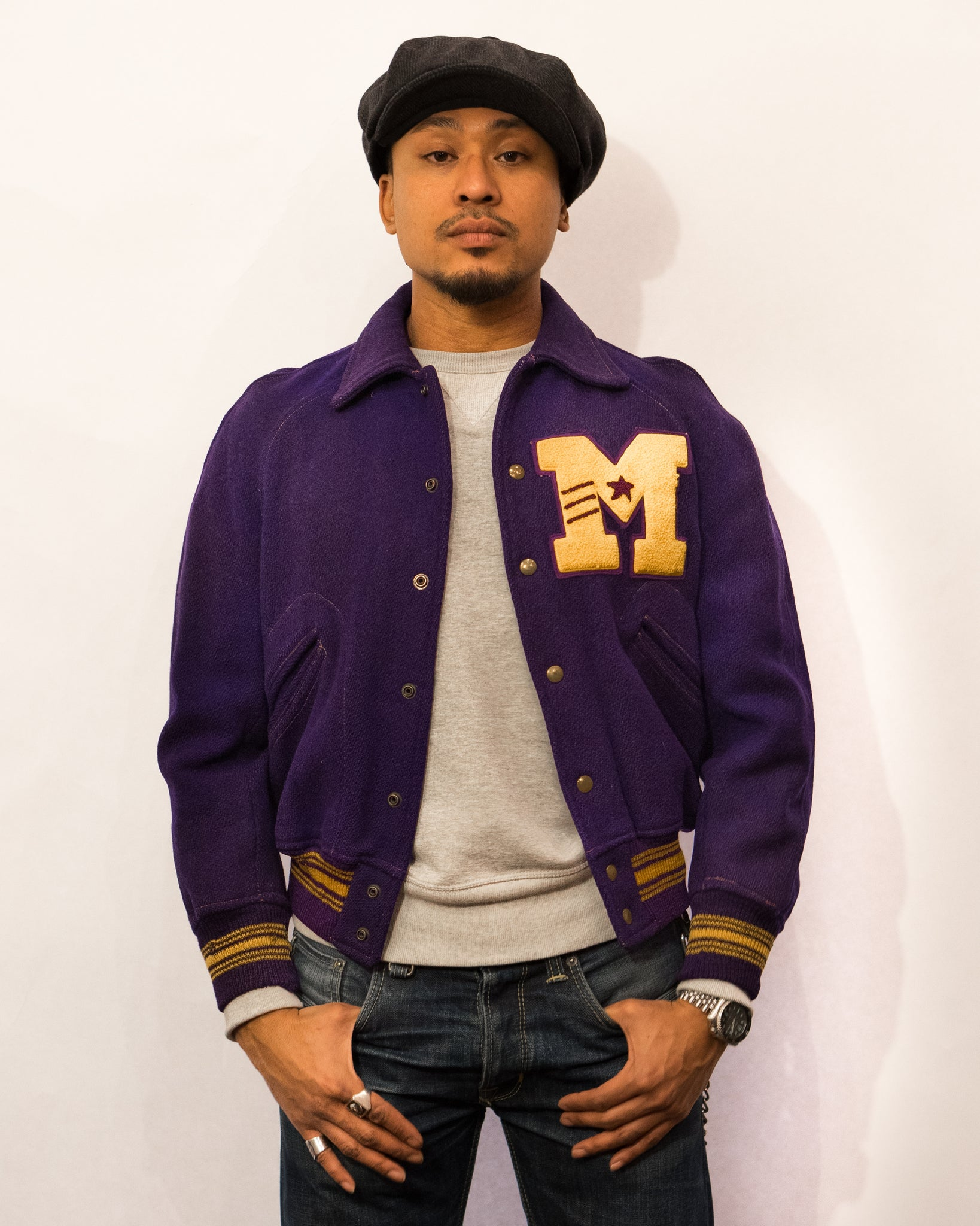 M Purple Varsity Jacket (S)