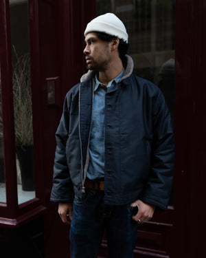 1944 N-1 Deck Jacket Waxed Navy