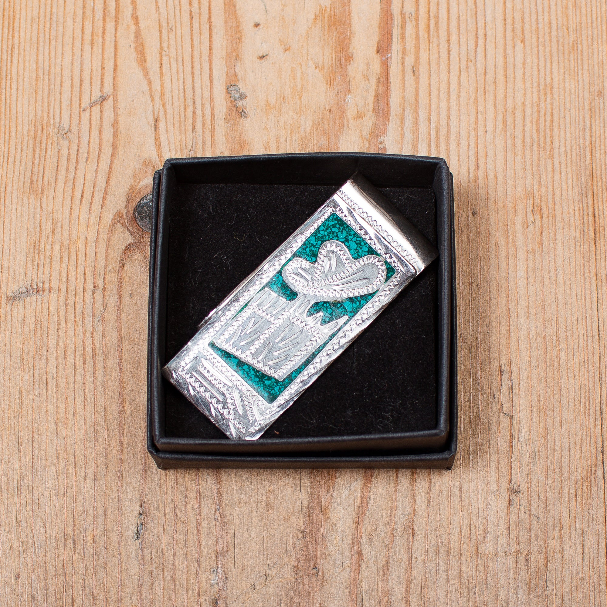 Green Mexican Money Clip