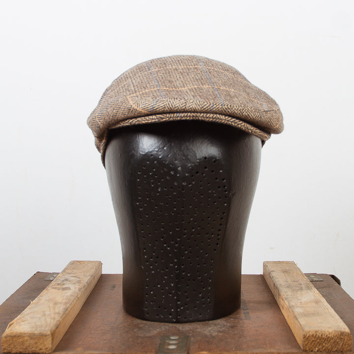 Flat Cap Brown-Tan Wool